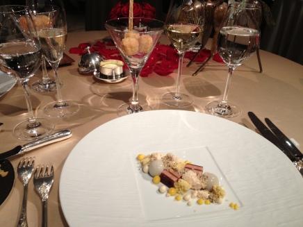 Course One: Goose liver with Brioche cream