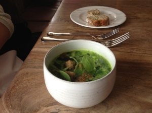 Smoked Eel and Parsley Soup