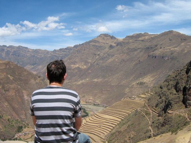 Surveying the view in Peru