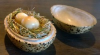 Somked and Pickled Quail's Eggs